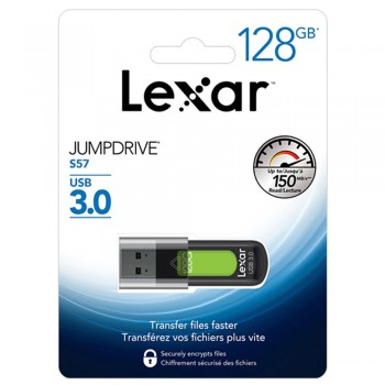 Lexar S57 Jumpdrive 128GB USB 3.0 Flash Drive (up 150MB/s read)