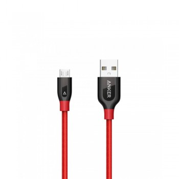 Anker A8142 PowerLine+ Micro USB (3ft/0.9m) UN Red with Offline Packaging V3 (848061038309)