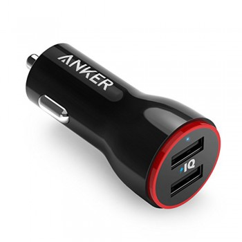Anker B2310 PowerDrive 2 Car Charger + 1 micro-B (3ft/0.9m) Black Offline Packaging V3 (848061069853)
