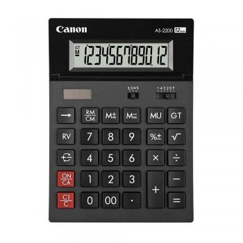 Canon AS-2200 Tilt Display ARC Design Desktop 12 Digits Calculator