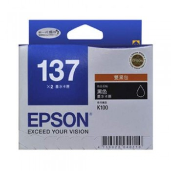 Epson 137 Black Double Pack (T137193)