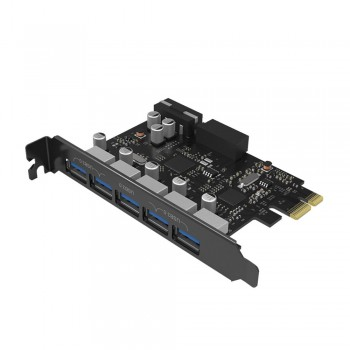 Orico PVU3-502I PCI-E Express Card to 5 USB3.0 External Port & 2 Ports 20 pin USB 3.0 Output Port
