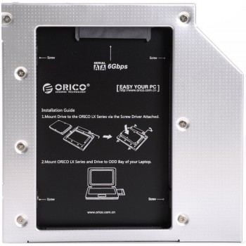 Orico L127SS Laptop Hard Drive Mount for 12.7mm Optical Drive Bay