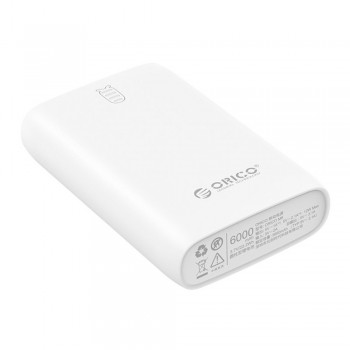 Orico Firefly M6 Power Bank 6000mAH - White