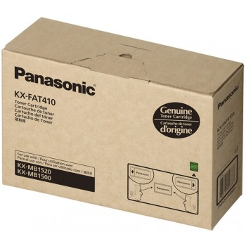 Panasonic KX-FAT410 Toner Cartridge, KX-MB1500CX/1520/1530 Black Genuine - No Warranty (Item no: P KX FAT410)