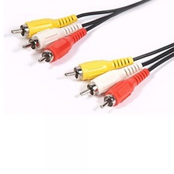 3 RCA to 3 RCA (male) to (male) Cable 10m