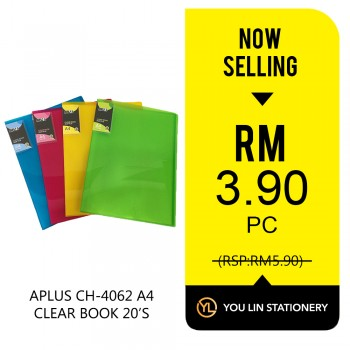 APLUS CH-4062 A4 Clear Book 20 Pocket-Promo