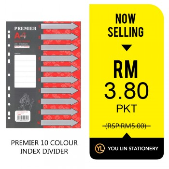 Premier 10 Colour Index Divider-Promo