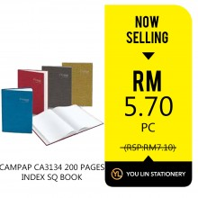 Campap CA3134 200 Pages Index Square Book - Promo