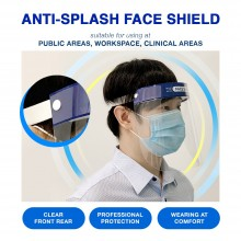 Protective Face Shield For Adult / Anti Fog & Extra Protection On Face (10 pcs)