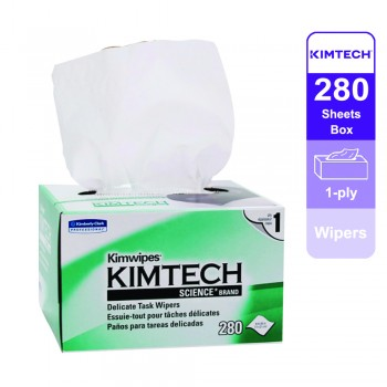 Kimtech Science™ Wipers 34155 - White, 1 ply, 1 box x 280 sheets (280 sheets)