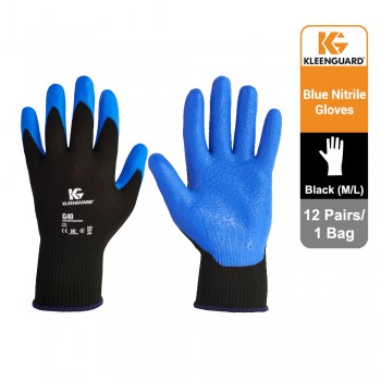 KleenGuard™ G40 Foam Coated Hand Specific Gloves - Black, 1x12 pairs (24 gloves) - 40226 (M)