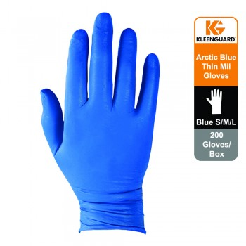 KleenGuard™ G10 Nitrile Ambidextrous Gloves - Arctic Blue,1x200 (200 gloves) - S Size