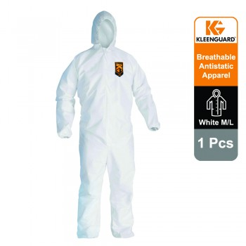 KleenGuard™ A20+ Breathable Particle Protection Hooded Coveralls 95170 - White, L, 1x1 (1 total)