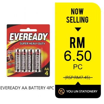 Eveready AA Battery 4pcs - Promo