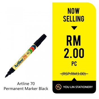 Artline 70 Black Permanent Marker - Promo
