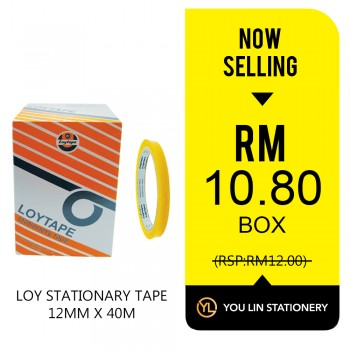 Loy Stationery Tape 12mm X 40m (Box)-Promo