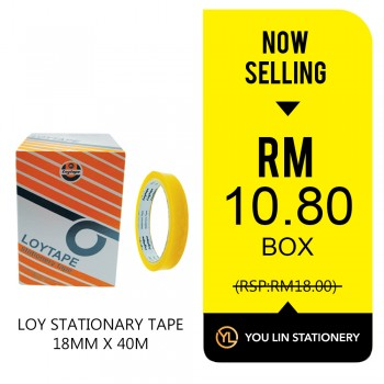 Loy Stationery Tape 18mm X 40m (Box)-Promo