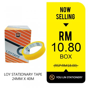 Loy Stationery Tape 24mm X 40m (Box)-Promo