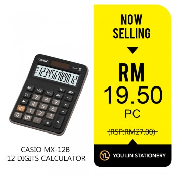 Casio MX-12B 12 Digits Calculator-Promo