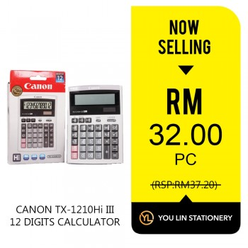 Canon TX-1210Hi III 12 Digits Calculator - Promo