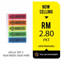 APLUS YPP-5 Sign Here Sticker - Promo