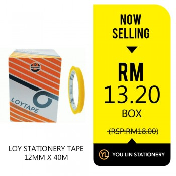 Loy Stationery Tape-12mm X 40m (Promo)