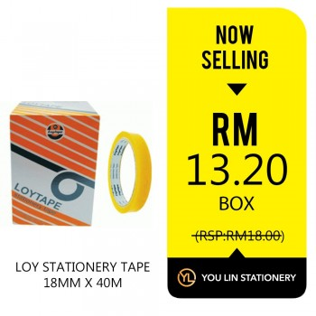 Loy Stationery Tape-18mm X 40m (Promo)