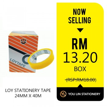 Loy Stationery Tape-24mm X 40m (Promo)