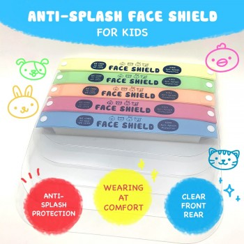 5 Pcs Kids Face Shield Mask 3-10 Yrs Kid/High Quality Clear View/ Isolation Face Mask