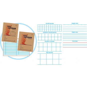 120 Pgs Single Line Exercise Book (5 per packet)