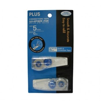 PLUS WH605R-2P Correction Tape Refill 5MM X 6M