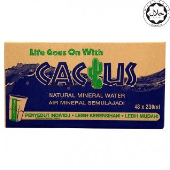 Cactus Natural Mineral Water 48 X 230ml