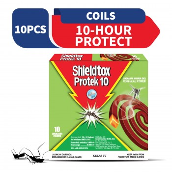 Shieldtox 10 Hours Protek Mosquito Coil 10 pieces