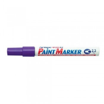 Artline 400XF Paint Marker Pen - 2.3mm Bullet Nib - Purple