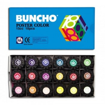 BUNCHO Poster Color - 15cc, 18 colors