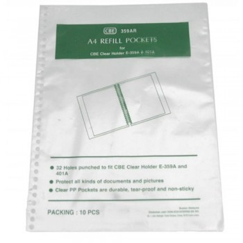 CBE 359AR A4 Refill Pockets (Item No: B10-04) A1R2B74