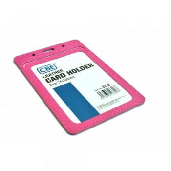 CBE Leather Card Holder 3318 - Pink (Single Sided) (Item no: B10-42 PK) A1R3B64