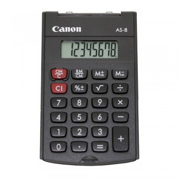 Canon AS-8 8 Digits Pocket Calculator