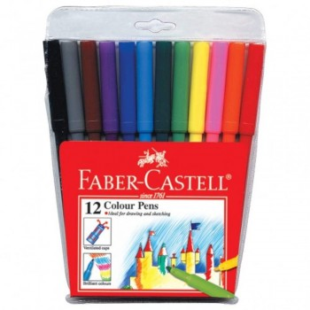 Faber Castell Fibre Tip Colour Pens 154312 - 12pc (Item No: A02-28) A1R1B158