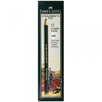 Faber Castell Graphite Pencil Castell 9000 6B (12 pcs)