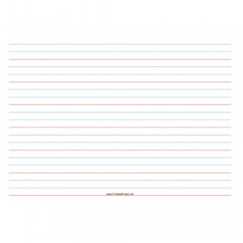 Standard Exercise Book 80 Pages (Red Blue 4 Line)