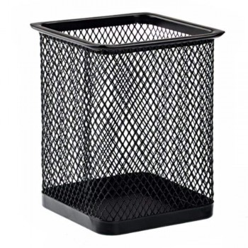 Pen Holder - Rectangular Mesh Pen Pot Black (Item No: B01-23) A1R2B22