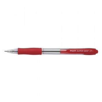 Pilot BPGP-10R Fine Super Grip Ball Pen 0.7mm - Red