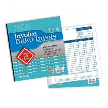 SBS 0281 Invoice Book (25 set X 3)