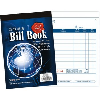 "SBS 0001 3.5"" X 5"" NCR Bill Book (30 set X 2)"