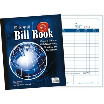 "SBS 0005 6"" X 7"" NCR Bill Book (30 set X 2)"