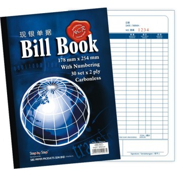 "SBS 0007 7"" X 10"" NCR Bill Book (30 set X 2)"