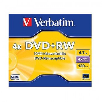 Verbatim DVD+RW 4X 4.7GB 120MIN With Case