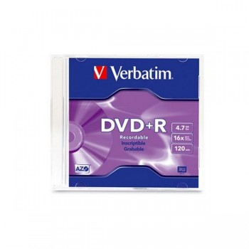 Verbatim DVD+R 16X 4.7GB 120MIN With Case